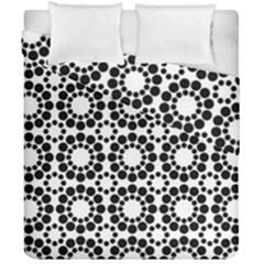 Black White Pattern Seamless Monochrome Duvet Cover Double Side (california King Size) by Celenk