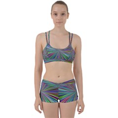 Burst Colors Ray Speed Vortex Women s Sports Set