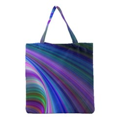 Background Abstract Curves Grocery Tote Bag by Celenk