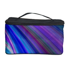 Background Abstract Curves Cosmetic Storage Case by Celenk