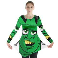 Buy Me A Coffee Halloween Long Sleeve Tunic  by Celenk