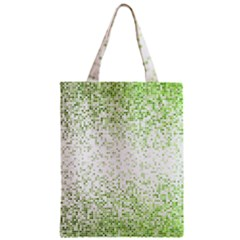 Green Square Background Color Mosaic Zipper Classic Tote Bag by Celenk