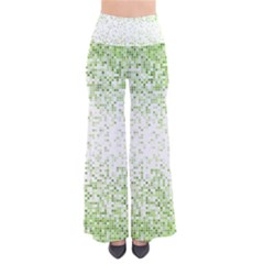 Green Square Background Color Mosaic Pants by Celenk