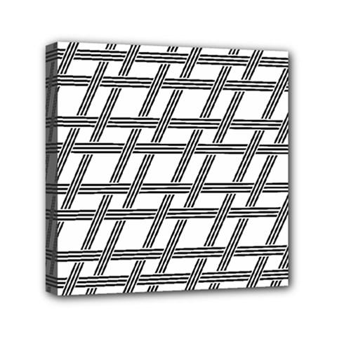 Grid Pattern Seamless Monochrome Mini Canvas 6  X 6  by Celenk