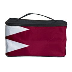 Heart Love Flag Qatar Cosmetic Storage Case by Celenk