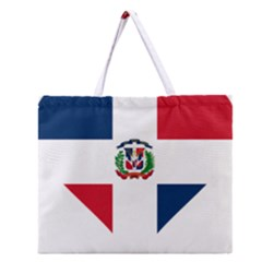 Heart Love Dominican Republic Zipper Large Tote Bag by Celenk