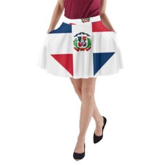 Heart Love Dominican Republic A Line Pocket Skirt by Celenk