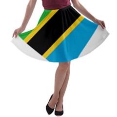 Heart Love Tanzania East Africa A Line Skater Skirt by Celenk