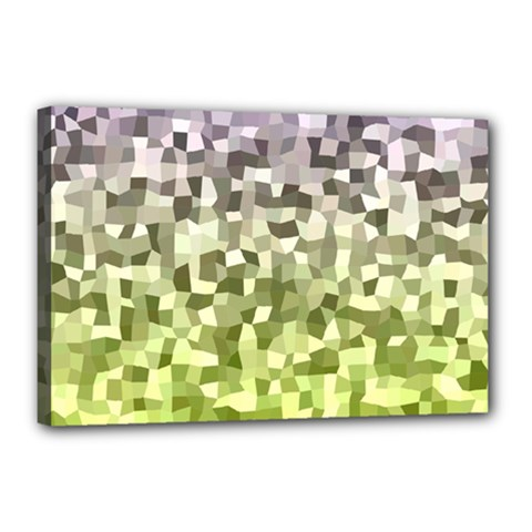 Irregular Rectangle Square Mosaic Canvas 18  X 12  by Celenk