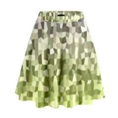 Irregular Rectangle Square Mosaic High Waist Skirt by Celenk