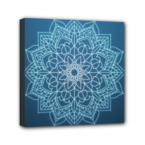 Mandala Floral Ornament Pattern Mini Canvas 6  X 6  by Celenk