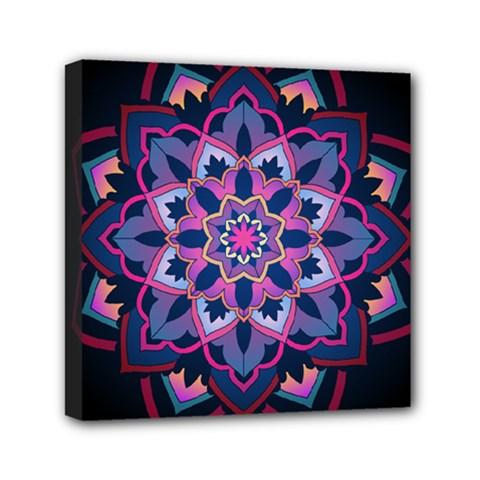 Mandala Circular Pattern Mini Canvas 6  X 6  by Celenk