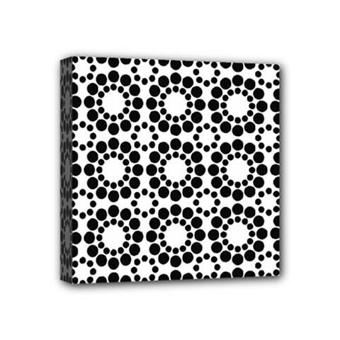 Pattern Seamless Monochrome Mini Canvas 4  X 4  by Celenk