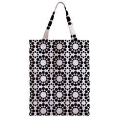 Pattern Seamless Monochrome Zipper Classic Tote Bag by Celenk