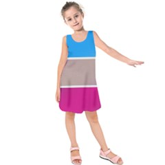 Pattern Template Banner Background Kids  Sleeveless Dress