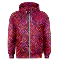 Pattern Background Square Modern Men s Zipper Hoodie by Celenk