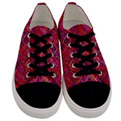 Pattern Background Square Modern Men s Low Top Canvas Sneakers