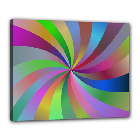 Spiral Background Design Swirl Canvas 20  X 16  by Celenk