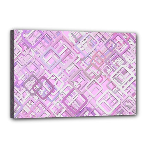 Pink Modern Background Square Canvas 18  X 12  by Celenk