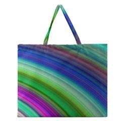 Motion Fractal Background Zipper Large Tote Bag by Celenk