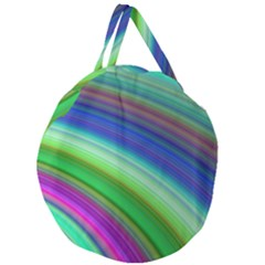 Motion Fractal Background Giant Round Zipper Tote by Celenk