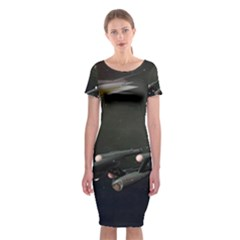 Space Travel Spaceship Space Classic Short Sleeve Midi Dress by Celenk
