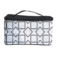 Square Line Stripe Pattern Cosmetic Storage Case by Celenk