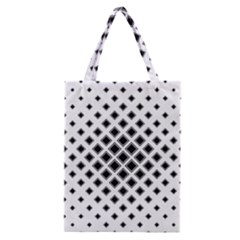 Square Pattern Monochrome Classic Tote Bag by Celenk
