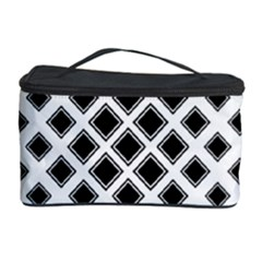 Square Pattern Monochrome Cosmetic Storage Case by Celenk