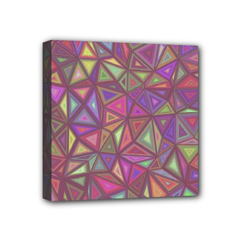 Triangle Background Abstract Mini Canvas 4  X 4  by Celenk