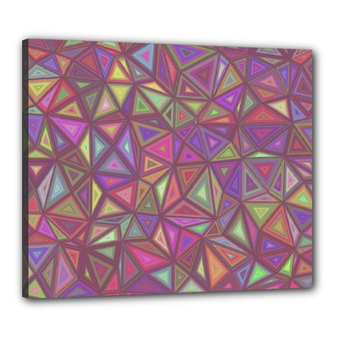 Triangle Background Abstract Canvas 24  X 20  by Celenk
