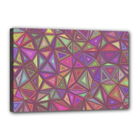 Triangle Background Abstract Canvas 18  X 12