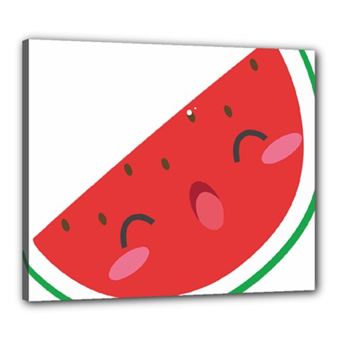 Watermelon Red Network Fruit Juicy Canvas 24  X 20  by Celenk
