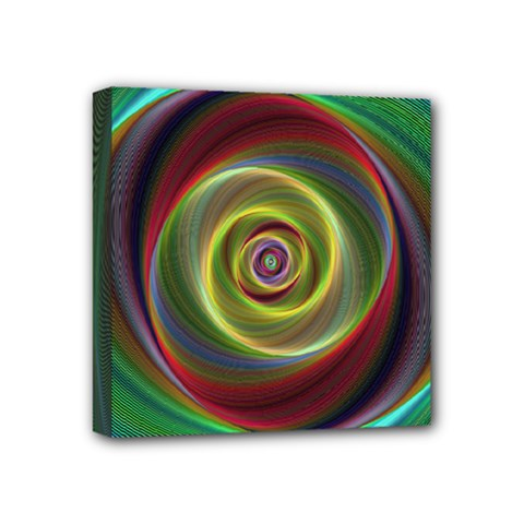 Spiral Vortex Fractal Render Swirl Mini Canvas 4  X 4  by Celenk