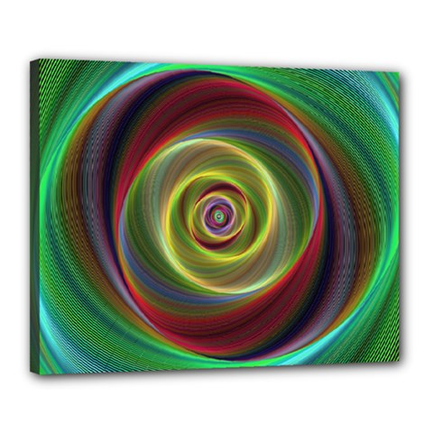 Spiral Vortex Fractal Render Swirl Canvas 20  X 16  by Celenk