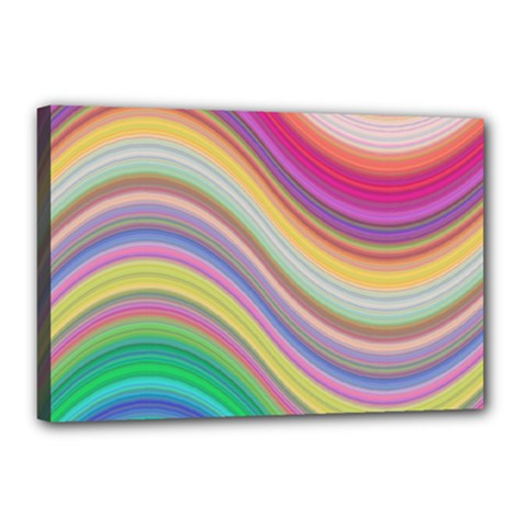Wave Background Happy Design Canvas 18  X 12  by Celenk