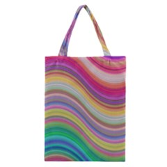 Wave Background Happy Design Classic Tote Bag by Celenk