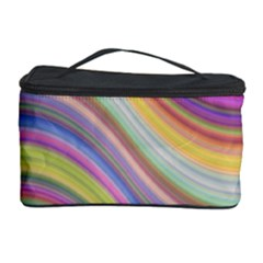 Wave Background Happy Design Cosmetic Storage Case by Celenk