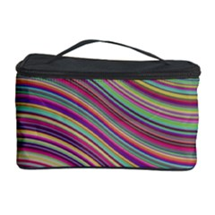 Wave Abstract Happy Background Cosmetic Storage Case by Celenk