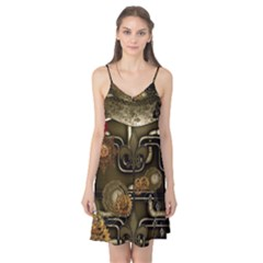Wonderful Noble Steampunk Design, Clocks And Gears And Butterflies Camis Nightgown