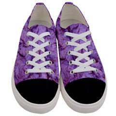 Purple Wall Background Women s Low Top Canvas Sneakers