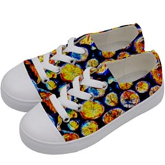 Woodpile Abstract Kids  Low Top Canvas Sneakers by Costasonlineshop