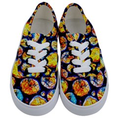 Woodpile Abstract Kids  Classic Low Top Sneakers