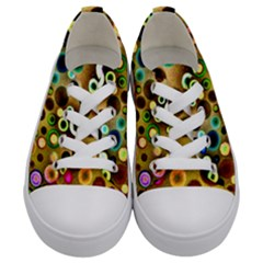 Colorful Circle Pattern Kids  Low Top Canvas Sneakers