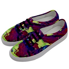 Abstract Painting ,blue,yellow,red,green Men s Classic Low Top Sneakers by Costasonlineshop
