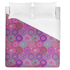 12 Geometric Hand Drawings Pattern Duvet Cover (queen Size) by Cveti