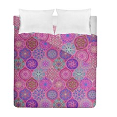 12 Geometric Hand Drawings Pattern Duvet Cover Double Side (full/ Double Size) by Cveti