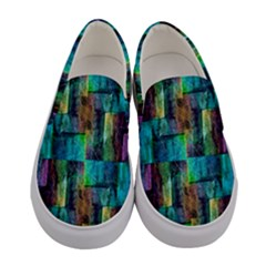 Abstract Square Wall Women s Canvas Slip Ons