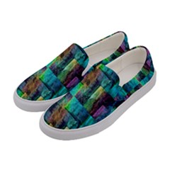 Abstract Square Wall Women s Canvas Slip Ons by Costasonlineshop