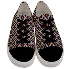 Native American Pattern 5 Men s Low Top Canvas Sneakers